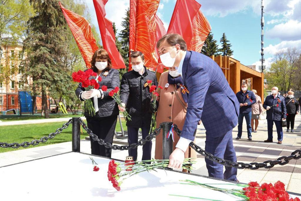 В преддверии Дня Победы в Капотне почтили память советских воинов Фото: Елена Шилина